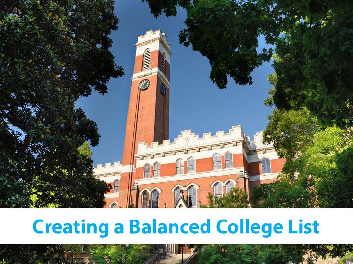 Creating a Balanced College List