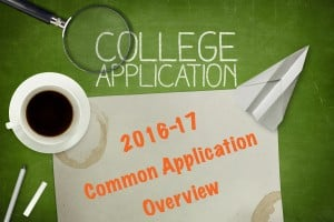 2016-17 Common Application Overview