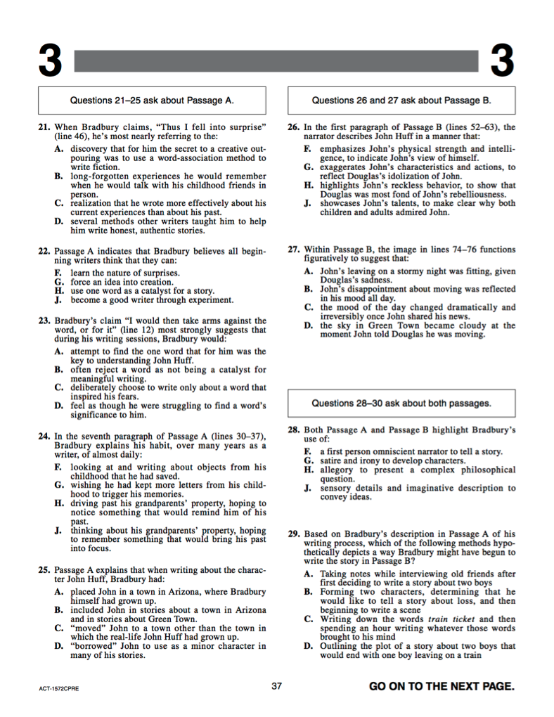 - Test Prep 101: Guide To The ACT Reading Section IvyWise