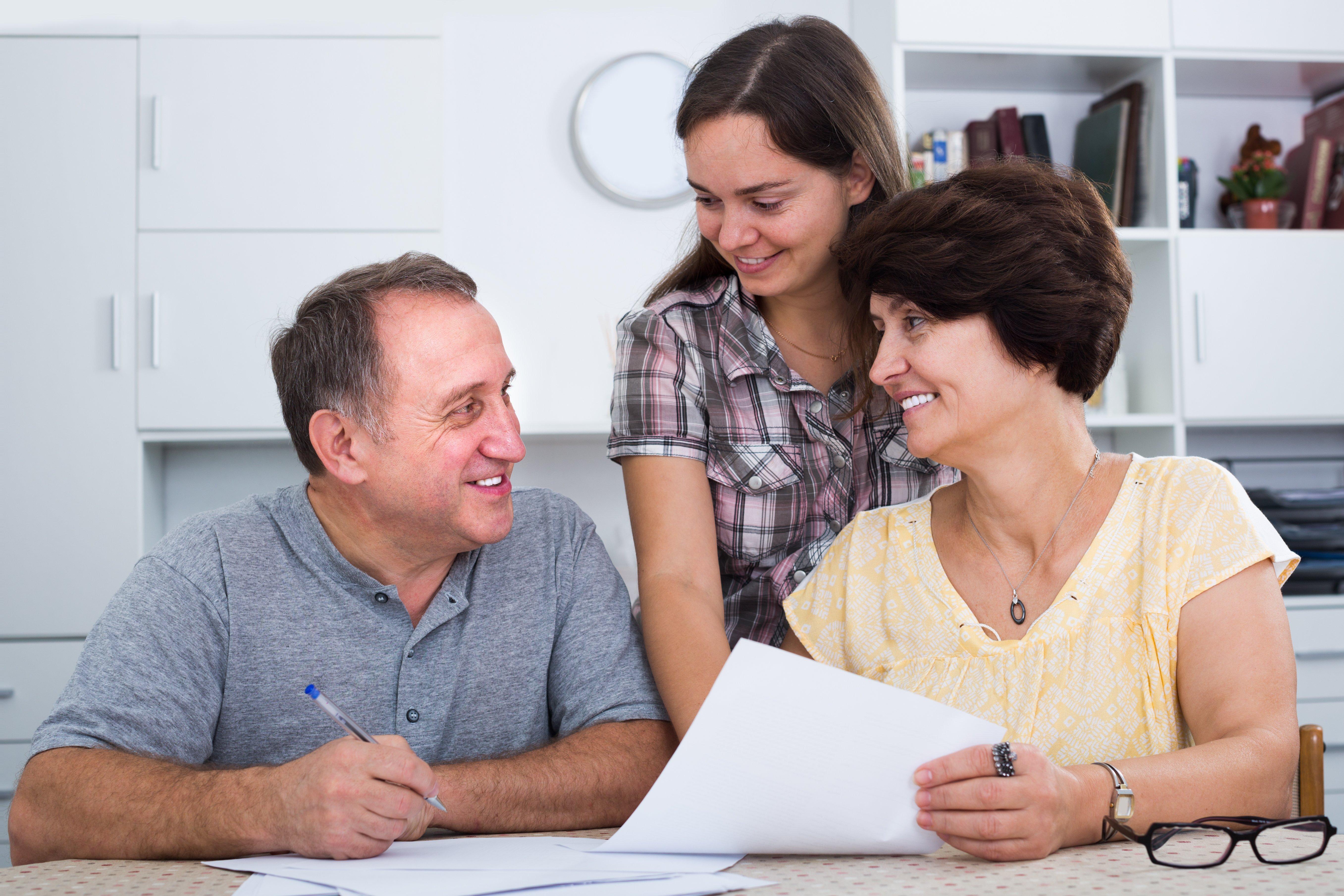Parents college cost talk