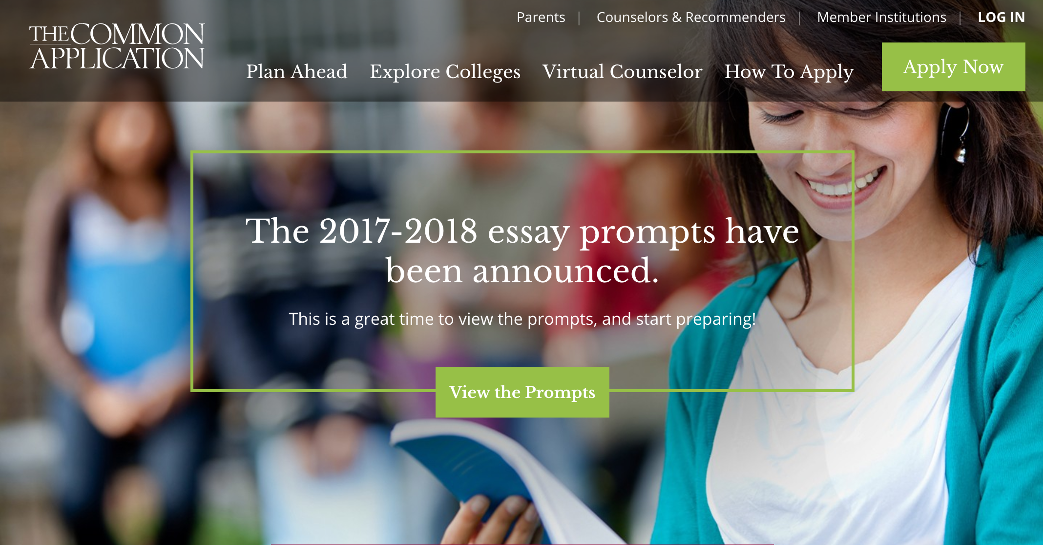 2017-18 Common Application Changes