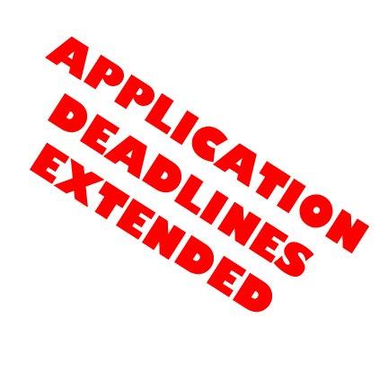 Application Deadlines Extended