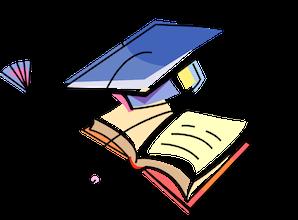 graduation cap and senior yearbook