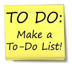 Use a to-do list to help manage your time and work