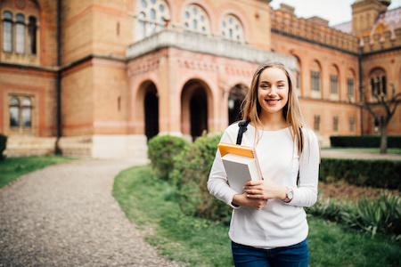 Portrait Of Female University Student On Campus